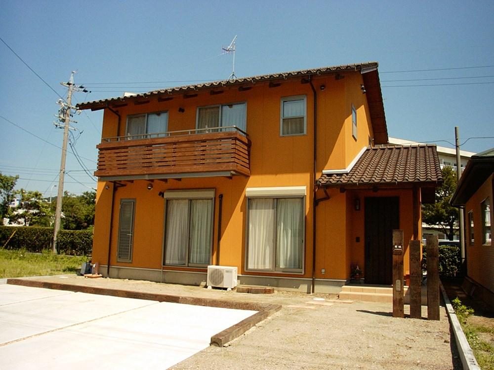オレンジのように新鮮な家